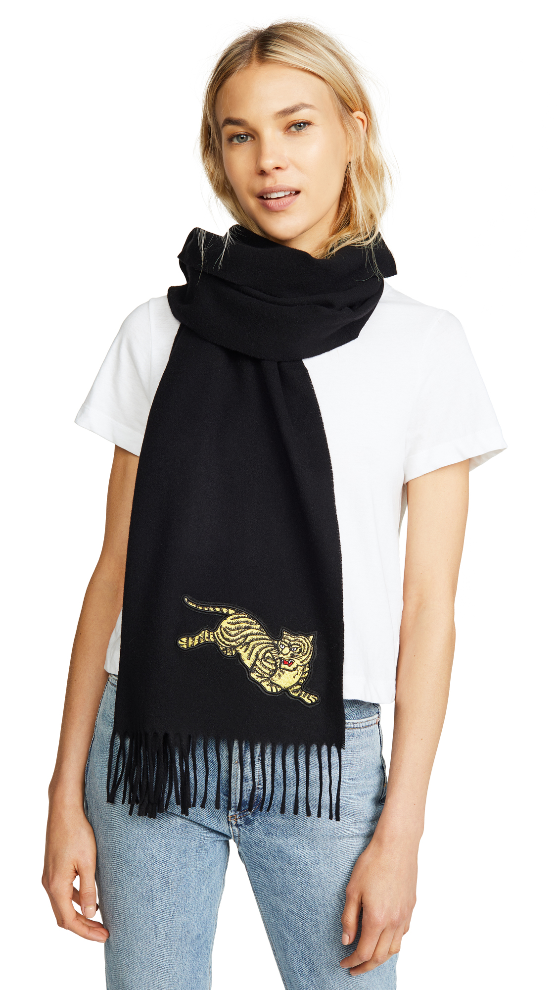 JUMPING TIGER STOLE SCARF