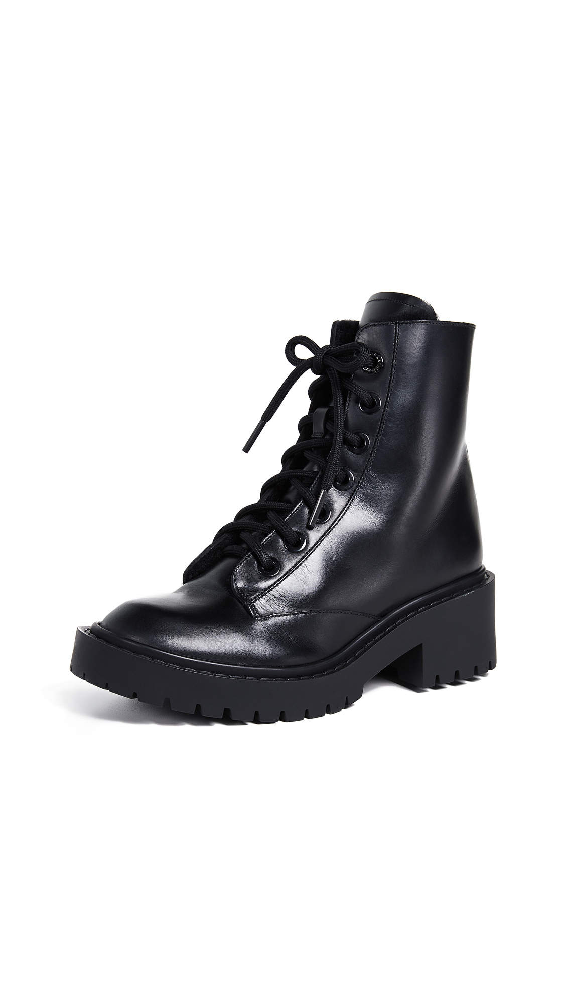 KENZO Pike Shearling Lined Boots - Black