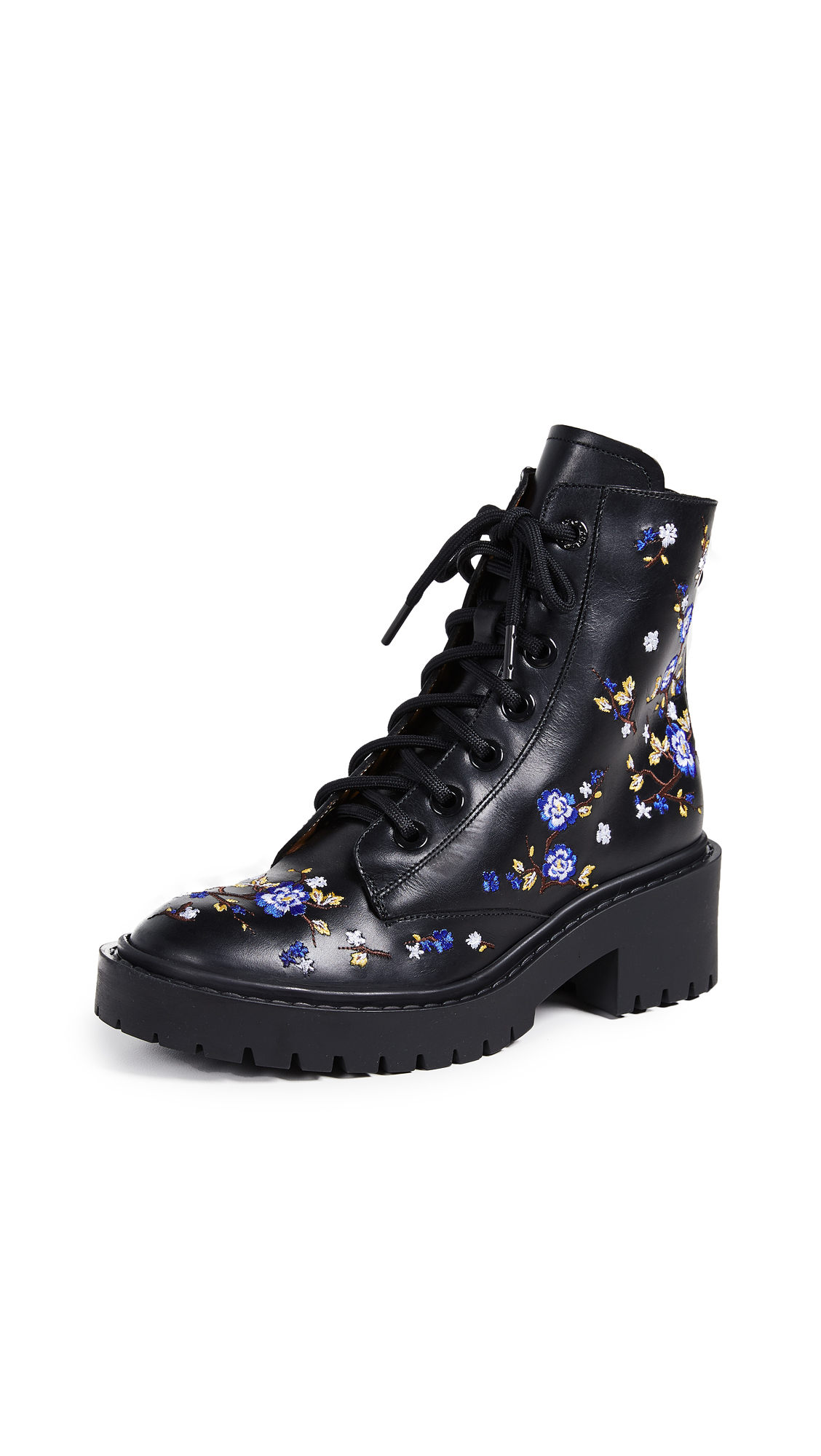 KENZO Pike Embroidered Boots - Black