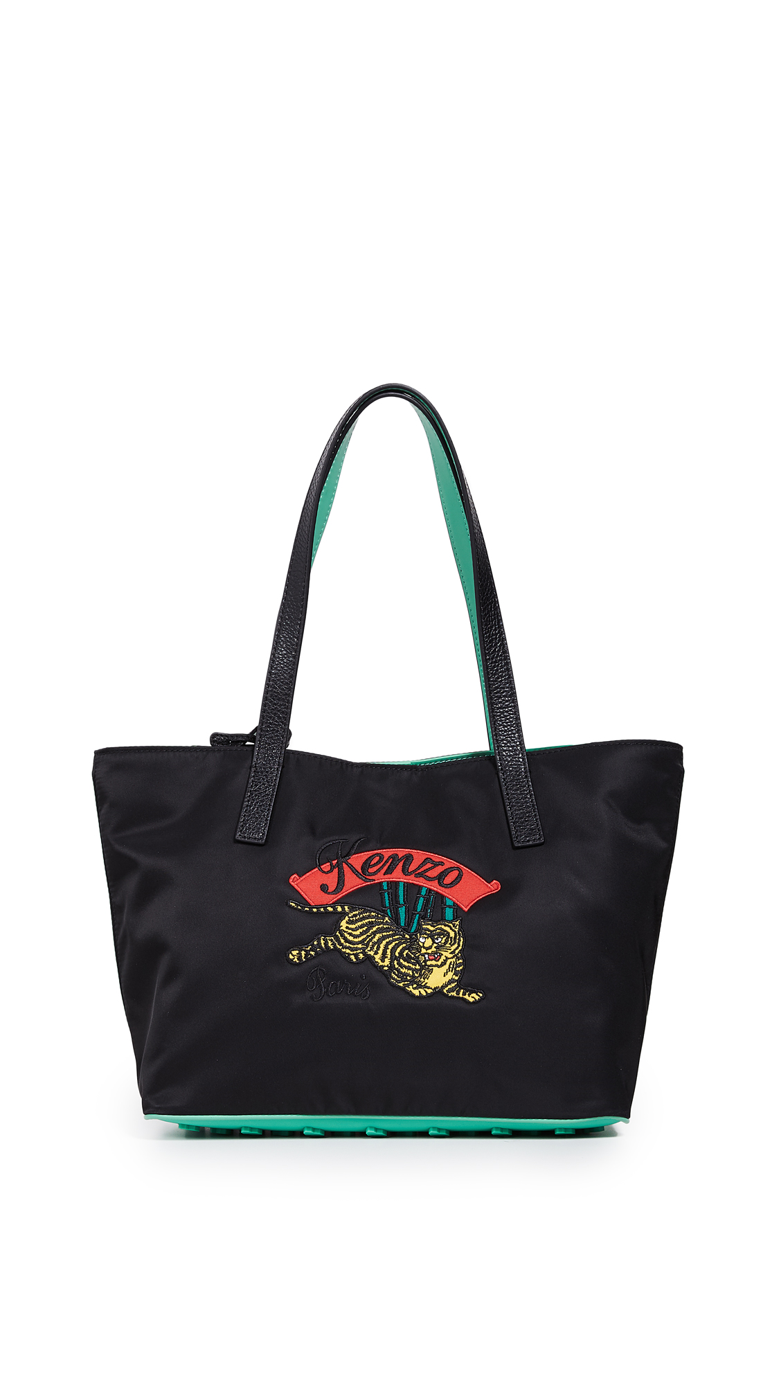 Jumping Tiger Small Tote in Black