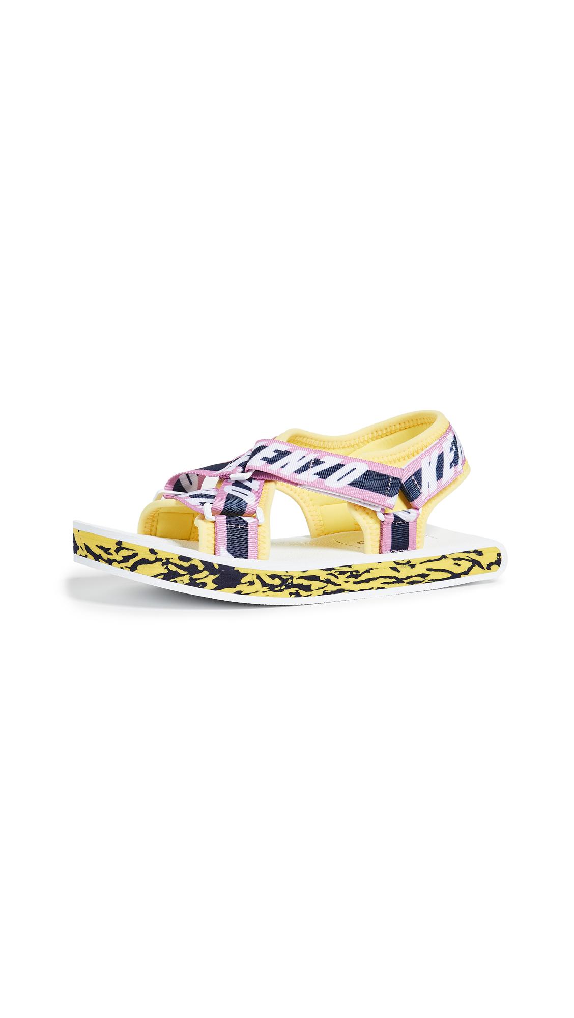 KENZO Lynn Flat Sandals - Pastel Pink