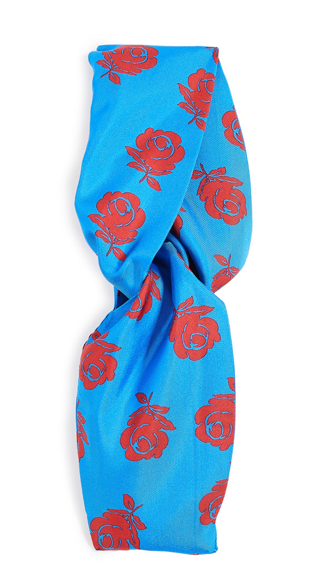 KENZO Roses Turban Headband - Cobalt