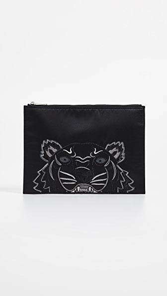 Tiger A4 Pouch in Black