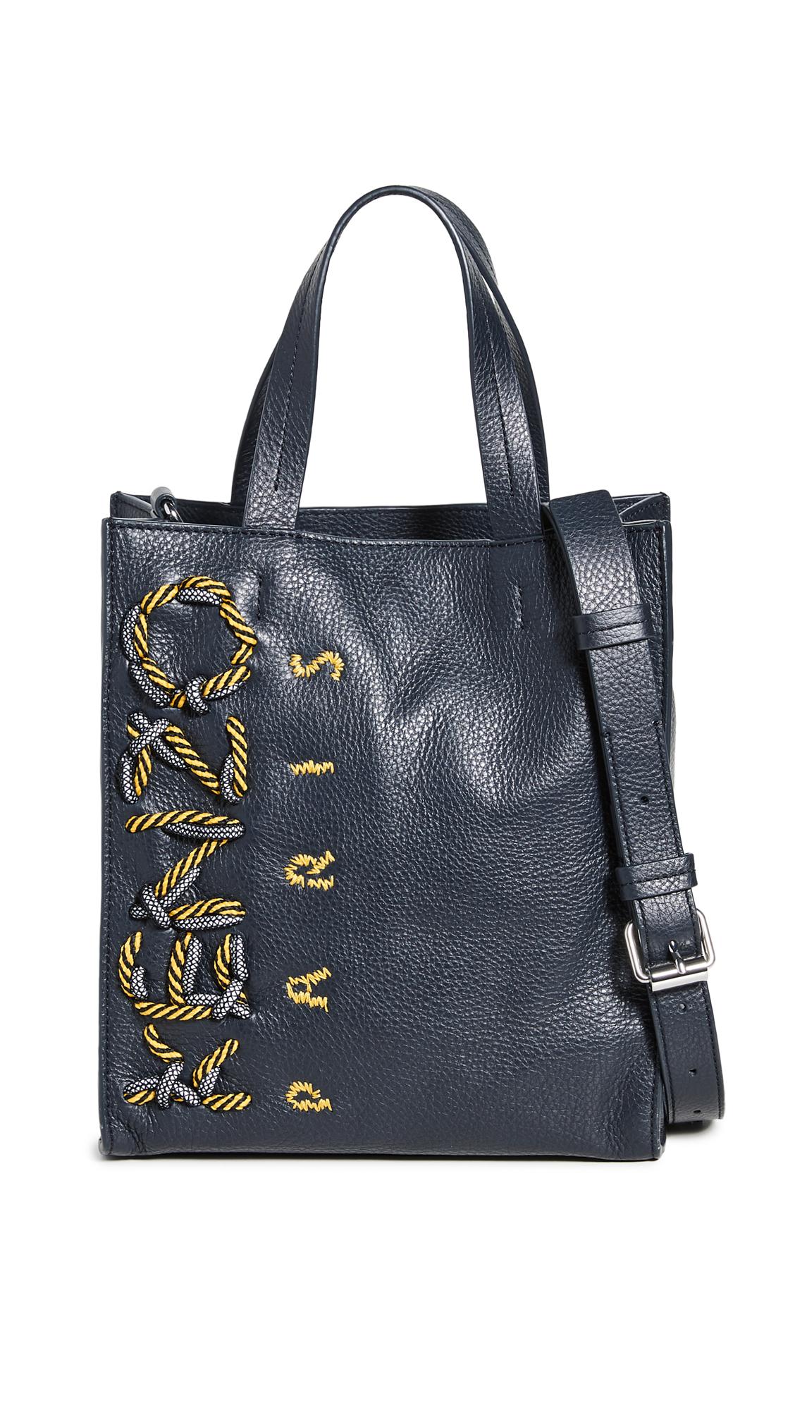 KENZO Kontrast Small Vertical Shopper Bag - Navy Blue