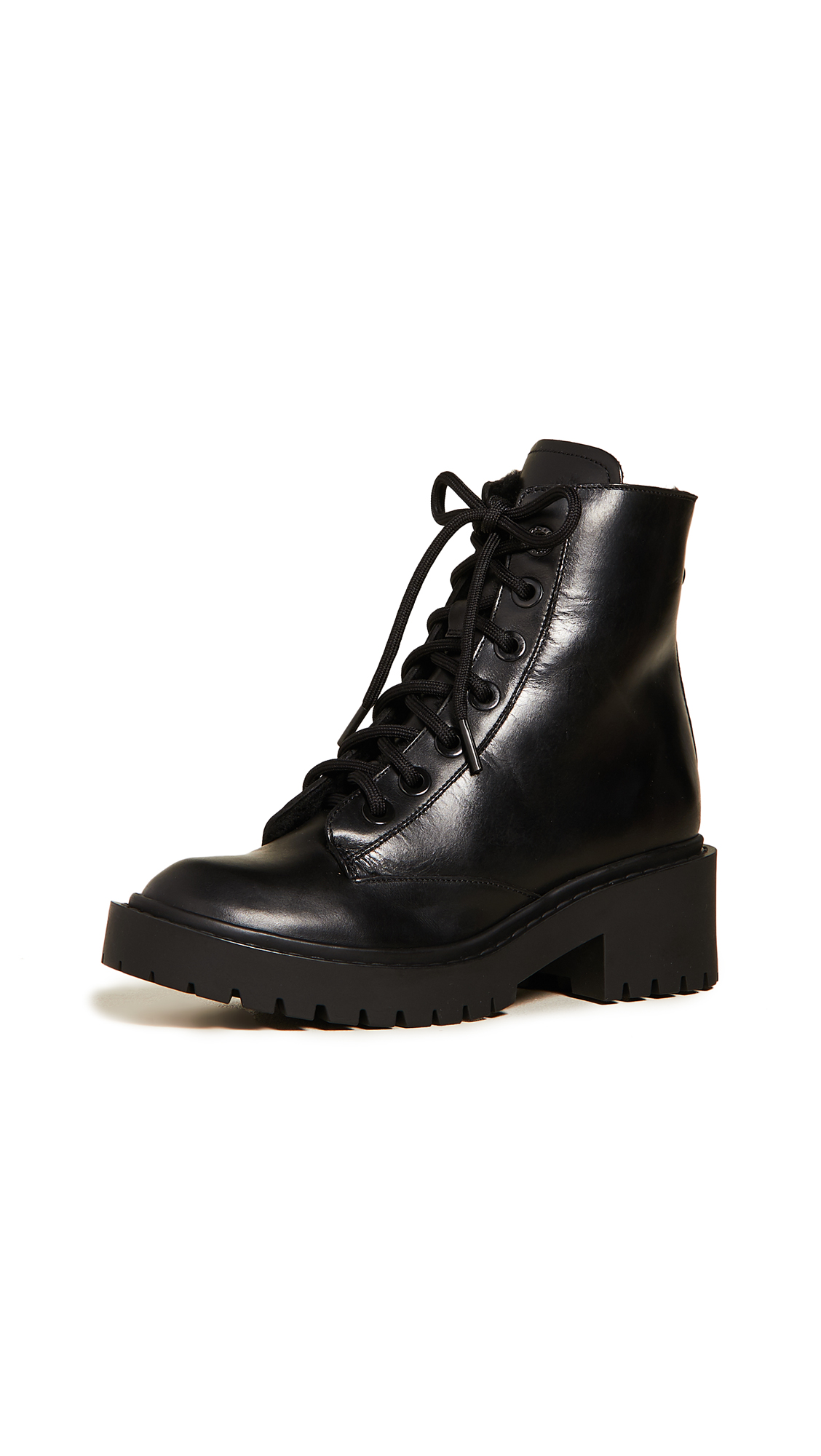 Buy KENZO online - photo of KENZO Pike Shearling Lined Boots