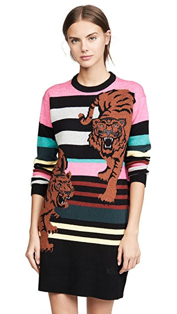 Photo of  KENZO Double Tiger Sweater Dress - shop KENZO dresses online sales