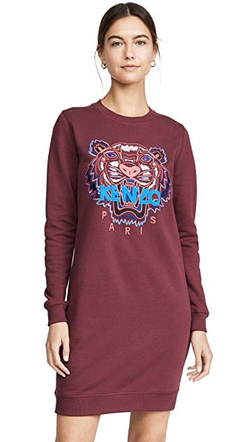KENZO Classic Tiger Sweatshirt Dress