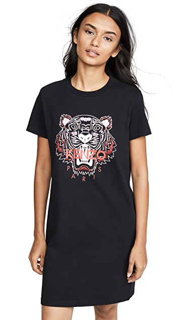 Photo of  KENZO Classic Tiger T-Shirt Dress - shop KENZO dresses online sales