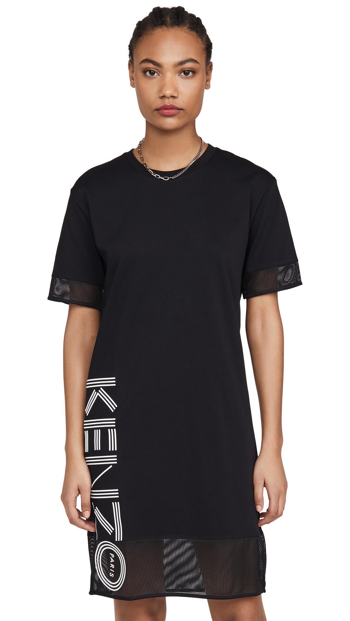 Buy KENZO Kenzo Sport T-Shirt Dress with Mesh online beautiful KENZO Clothing, Dresses