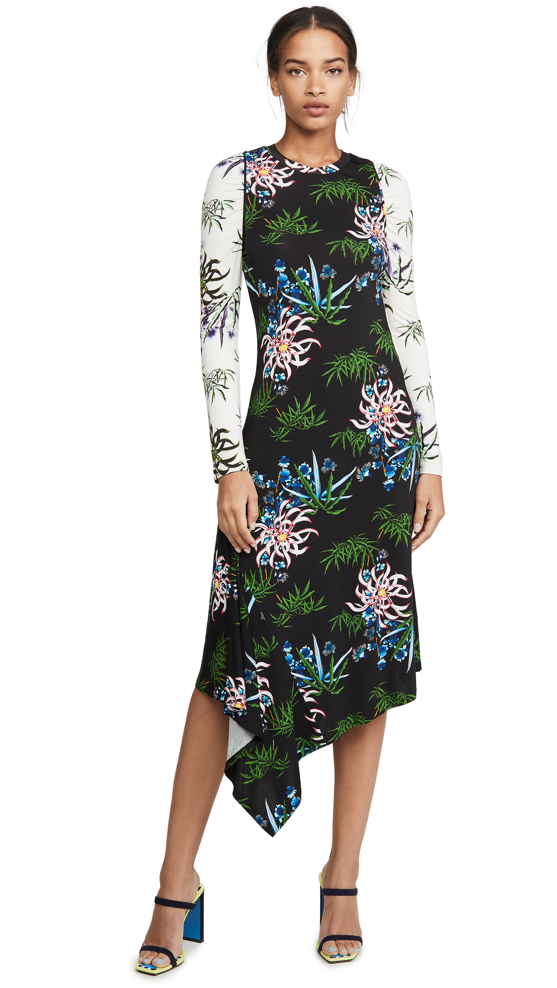 KENZO Fluid Asymetrical All Over Dress – 60% Off Sale