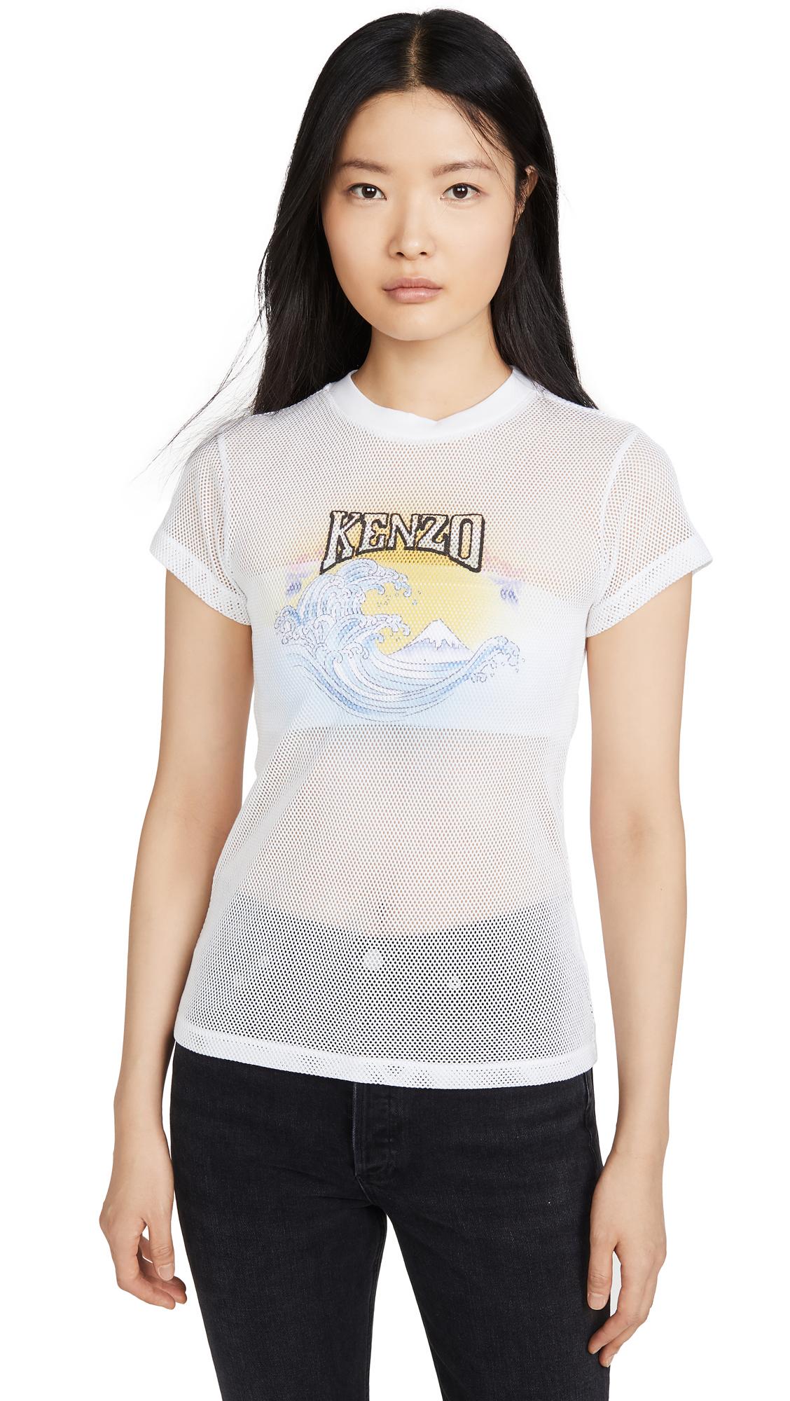 Buy KENZO online - photo of KENZO Mesh Fitted T-Shirt