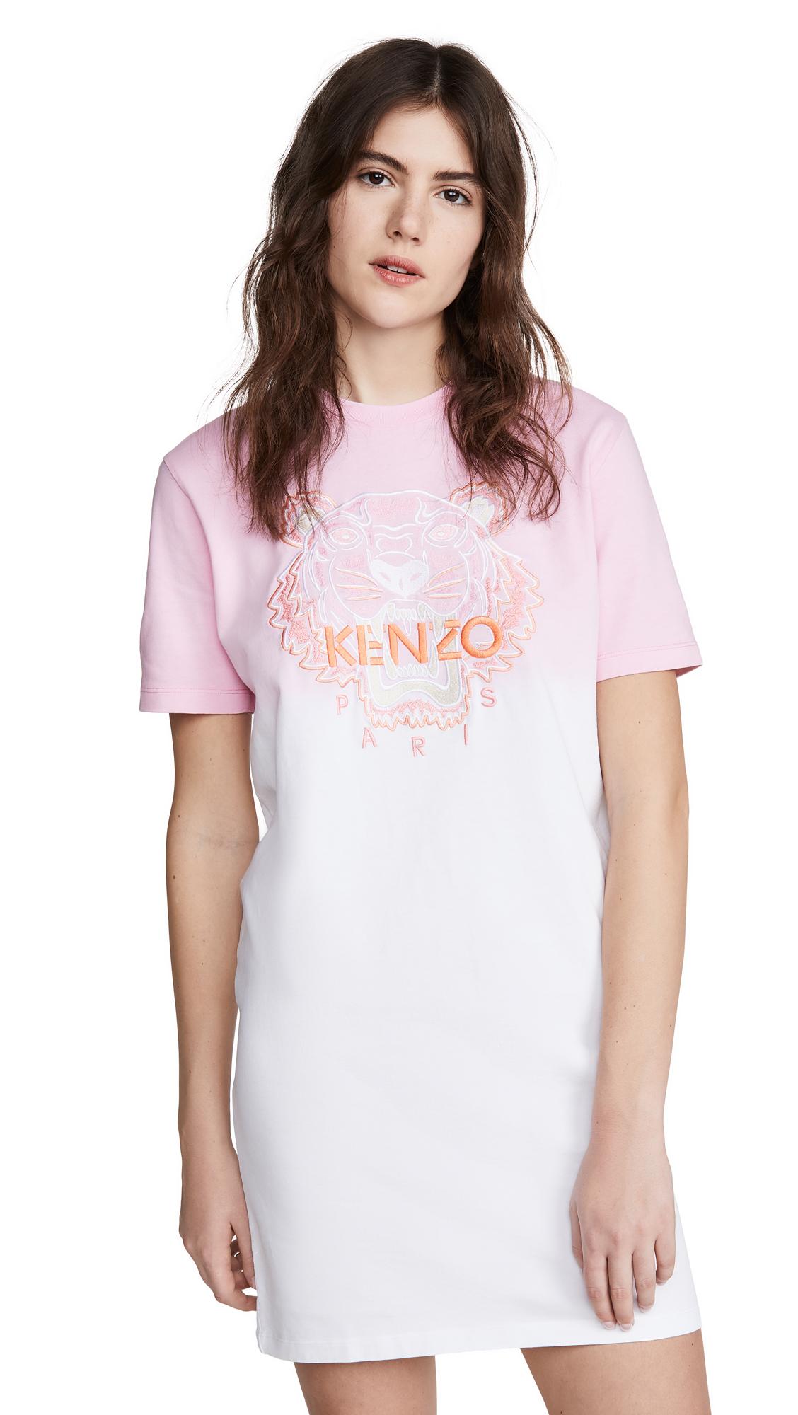 Buy KENZO online - photo of KENZO Dip Dyed Comfort T-Shirt Dress