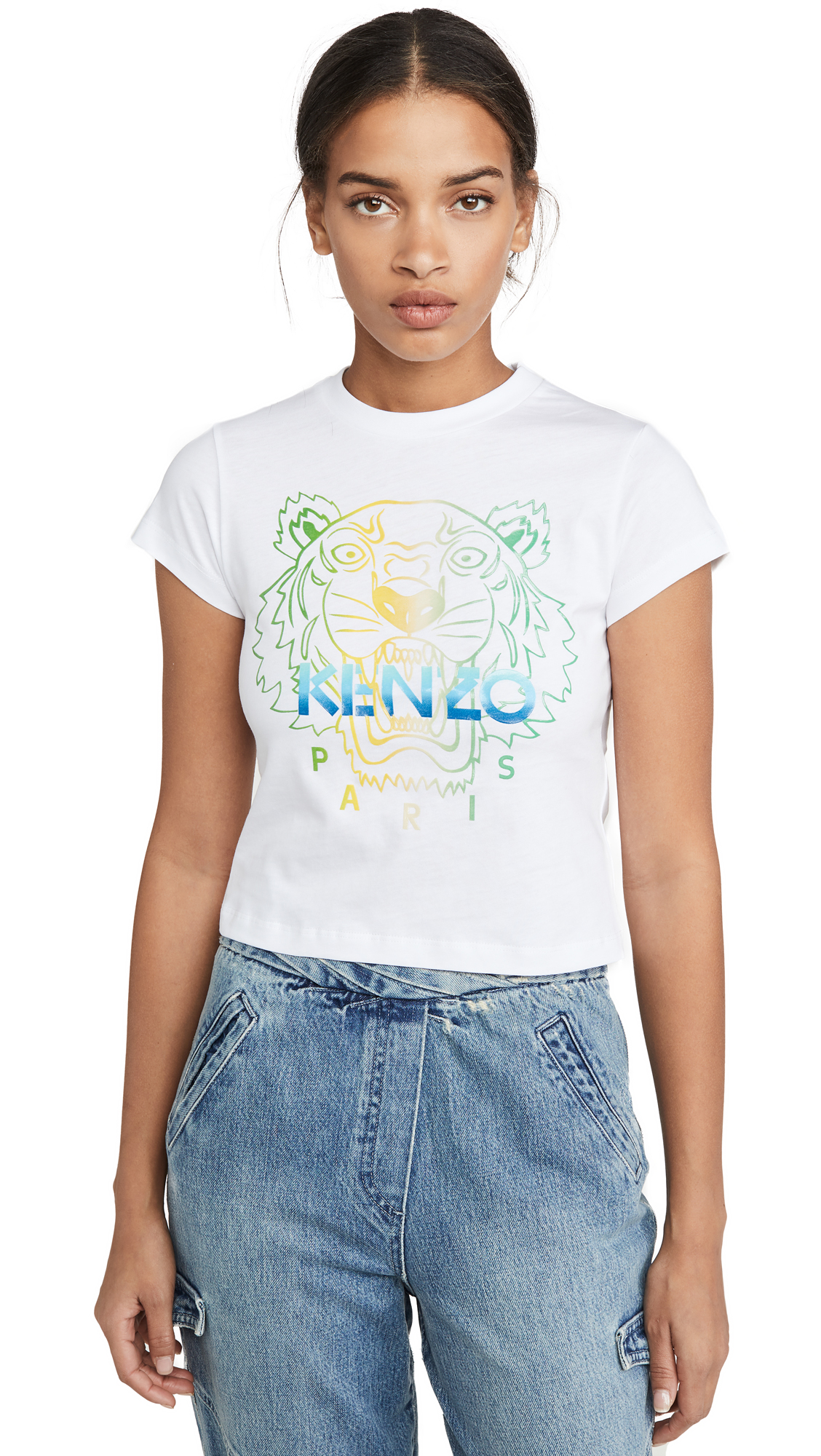 Buy KENZO online - photo of KENZO Cropped Skinny T-Shirt