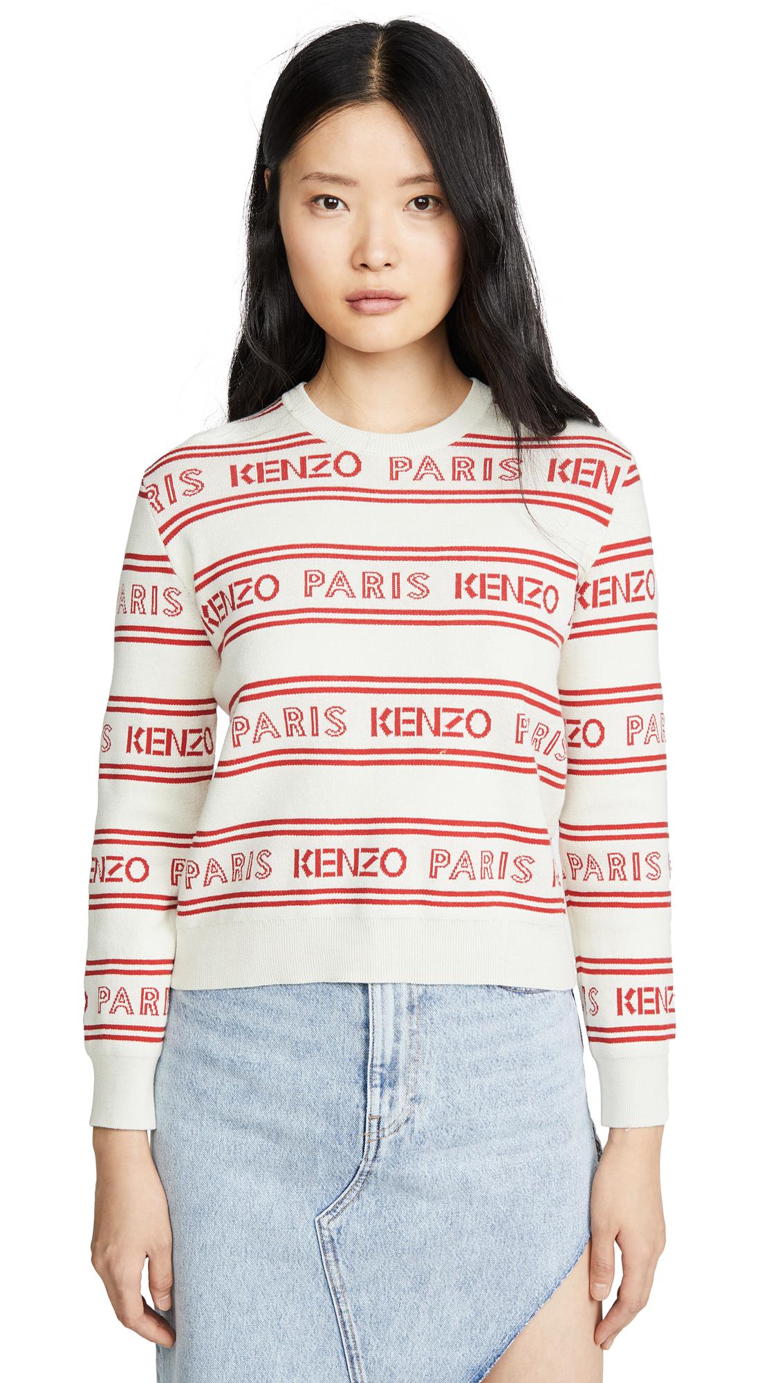 Buy KENZO online - photo of KENZO All Over Kenzo Jacquard Sweater