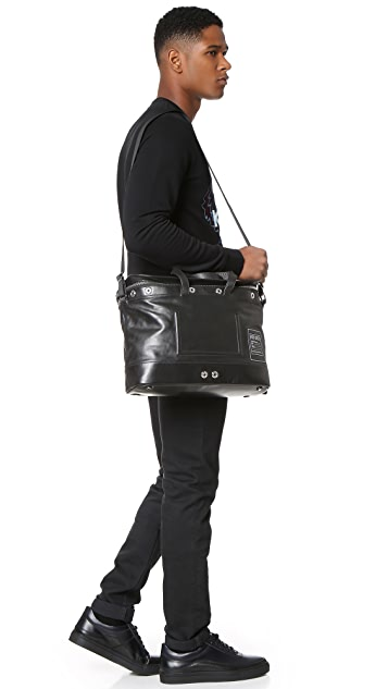 KENZO Kanvas Leather Briefcase