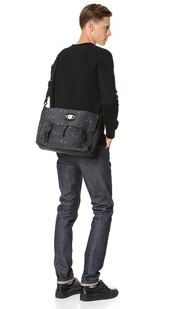 KENZO Essentiels Eyes Messenger Bag