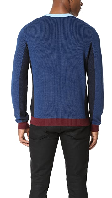 KENZO Tiger Crest Colorblock Pullover