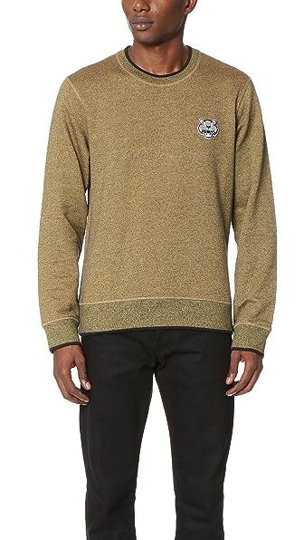 KENZO Molleton Tiger Crest Sweatshirt