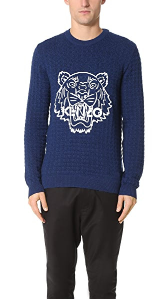KENZO Silicon Tiger Wool Textured Pullover