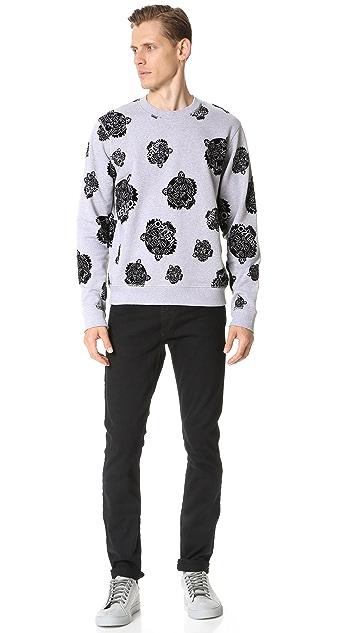 KENZO Flocked Allover Tiger Sweatshirt