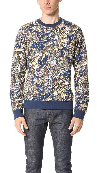 KENZO Allover Flying Tiger Sweatshirt