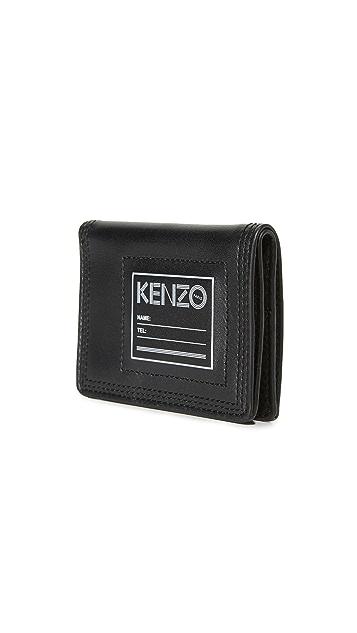KENZO Kanvas Leather Pouch
