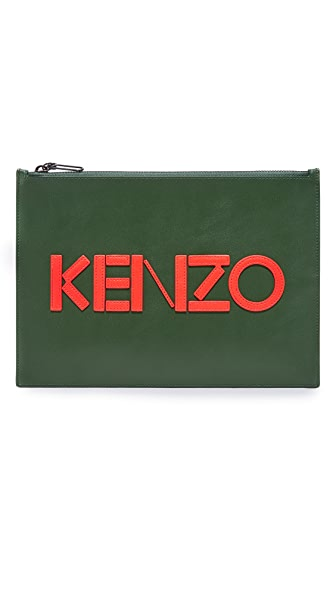 KENZO Leather A4 Pouch