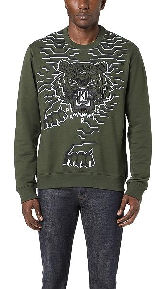 KENZO Geo Tiger Crew Sweatshirt