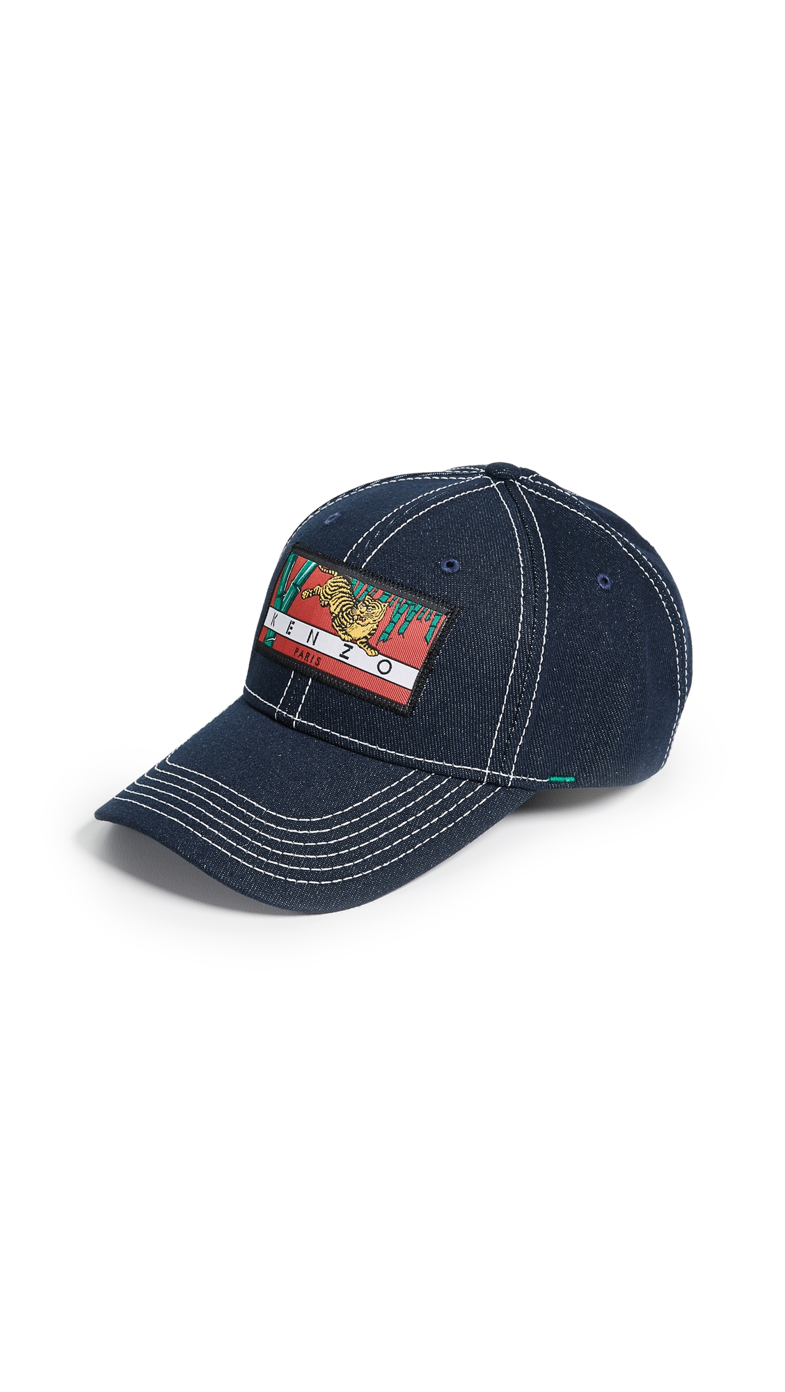 Kenzo Denim Bamboo Tiger Baseball Cap In Navy  92c73448f0bb