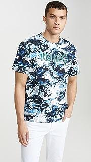 KENZO Kenzo Paris All Over Print Short Sleeve Tee Shirt