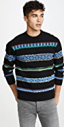 KENZO Peruvian Stripes Crew Neck Sweater