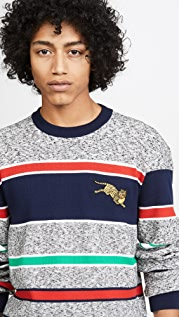 KENZO Jumping Tiger Crest Crew Neck Sweater