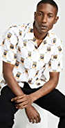 KENZO Rice Bag Print Short Sleeve Button Down Shirt