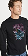 KENZO Mountains Logo Crew Neck Sweatshirt