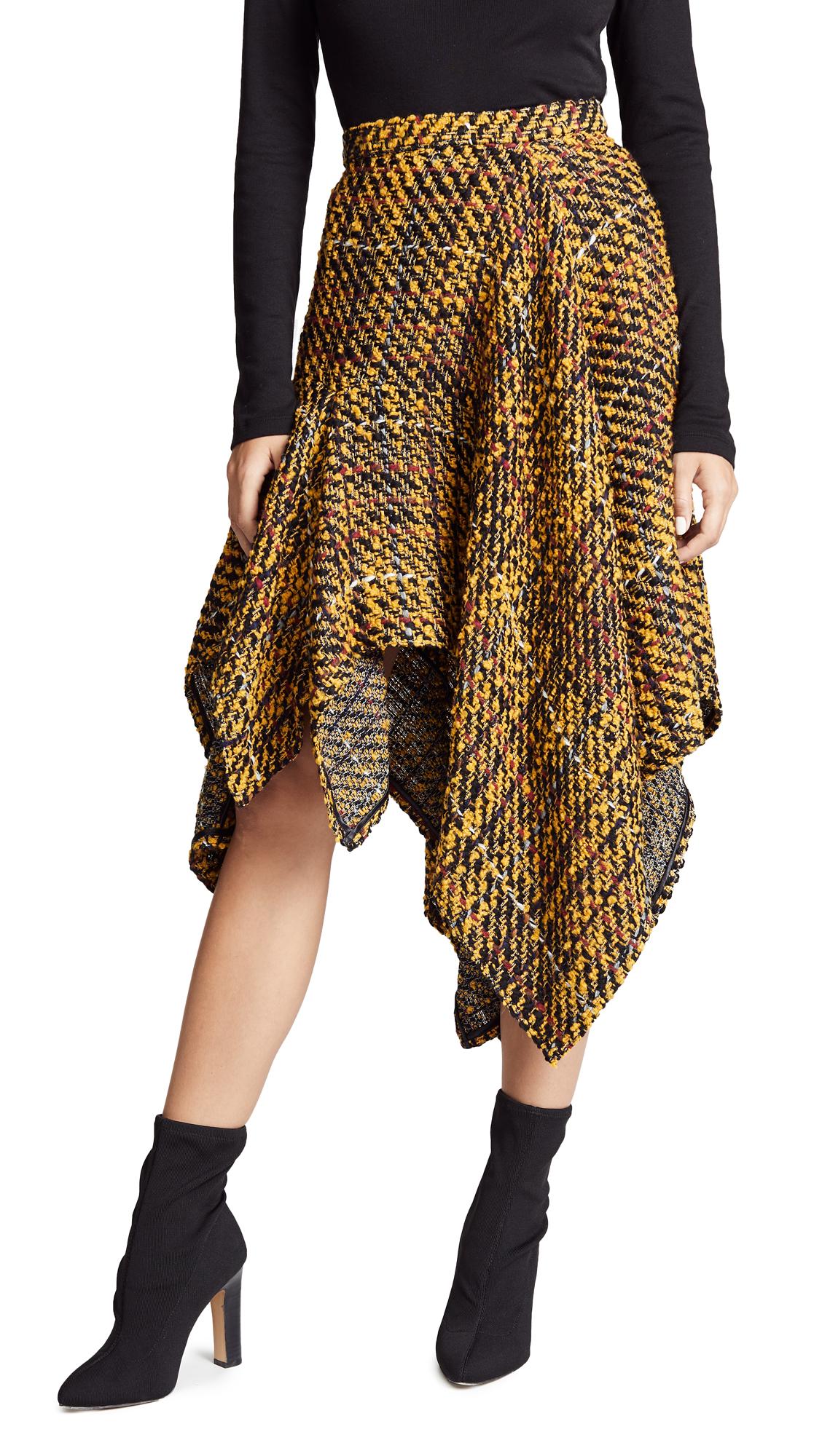 Koche Asymmetrical Skirt - Yellow/Black