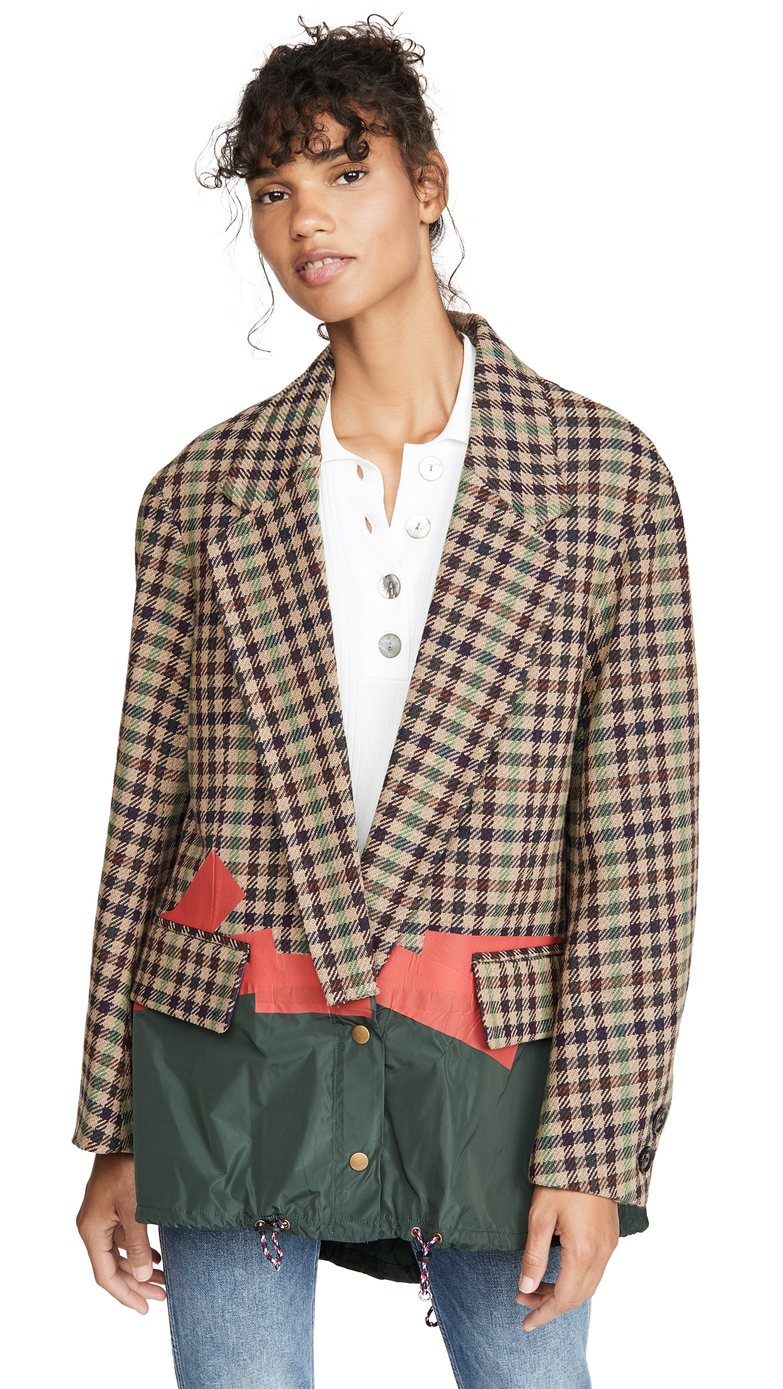 Kolor OVERSIZED CHECK BLAZER