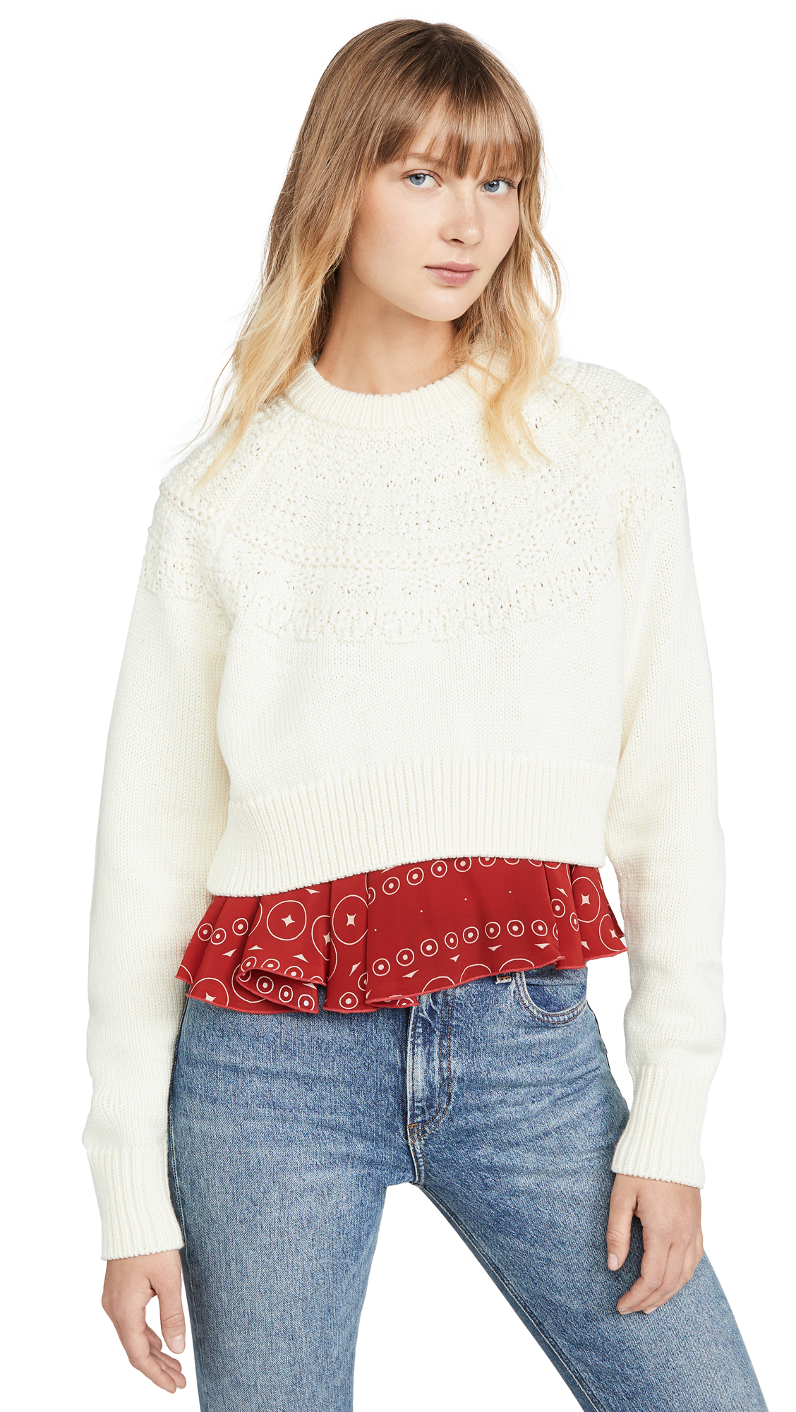 Buy Kolor online - photo of Kolor Layered Detail Sweater