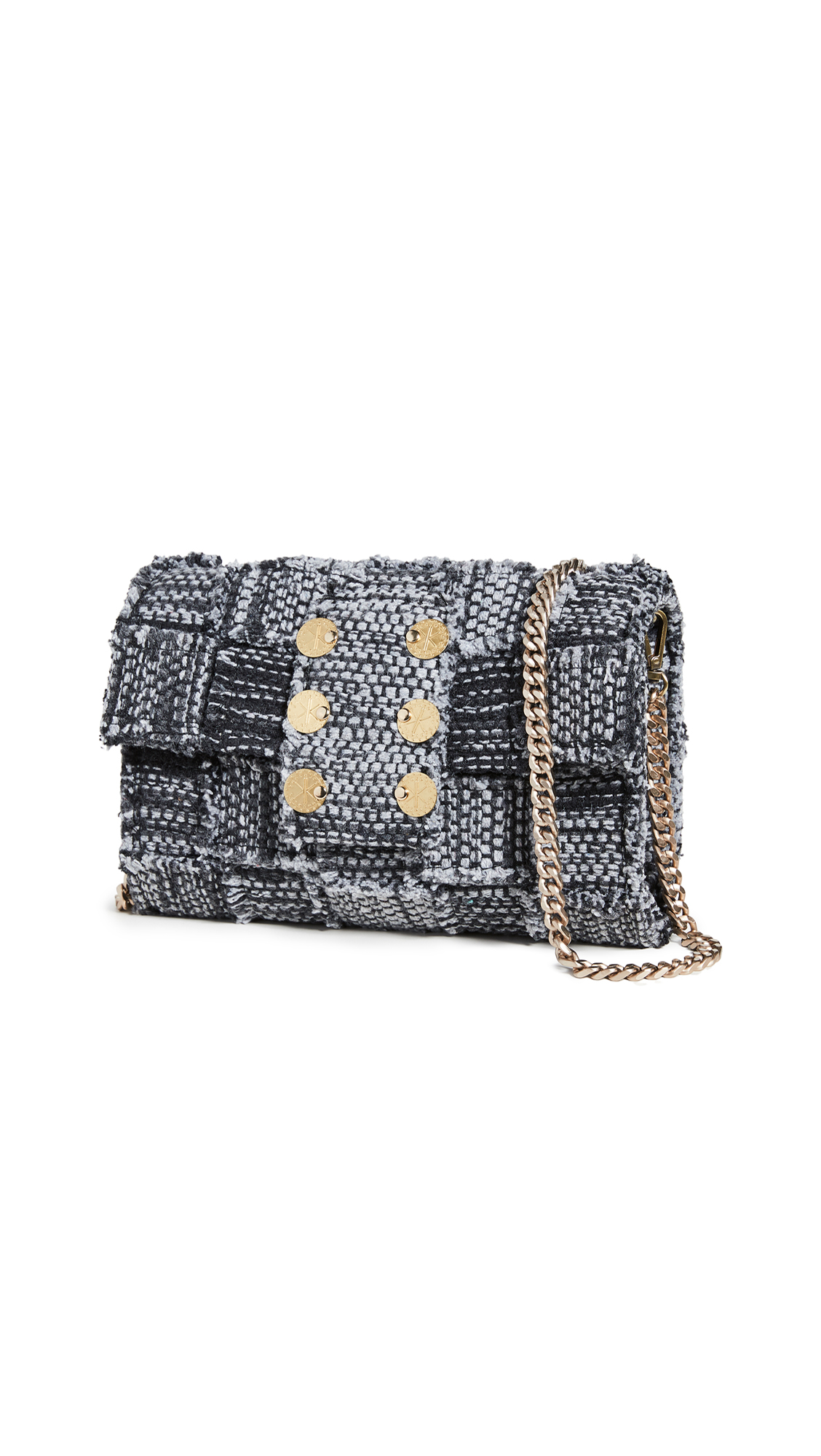 Kooreloo Pixel Orbit Clutch In Black Athena