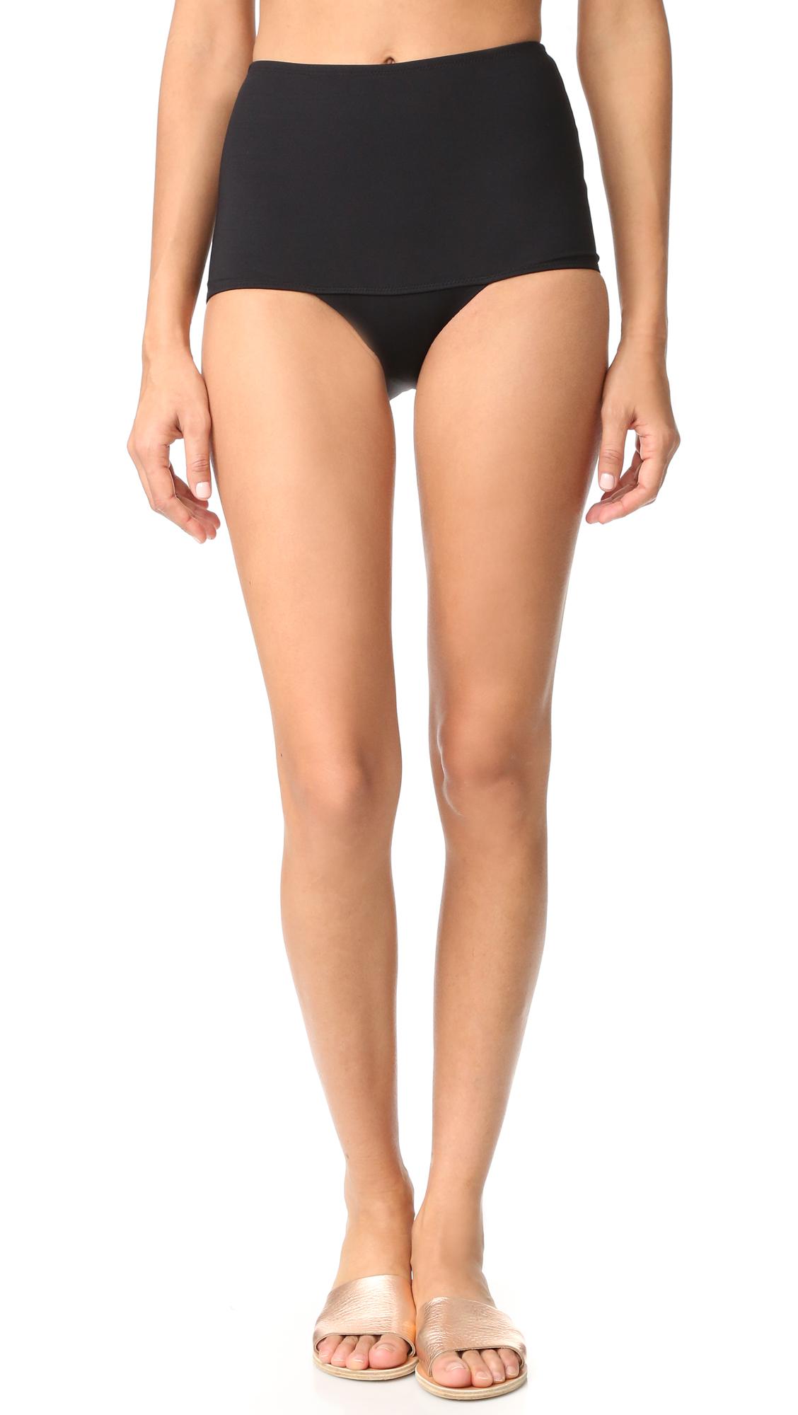 Kore Swim Electra High Waist Bikini Bottoms - Onyx at Shopbop