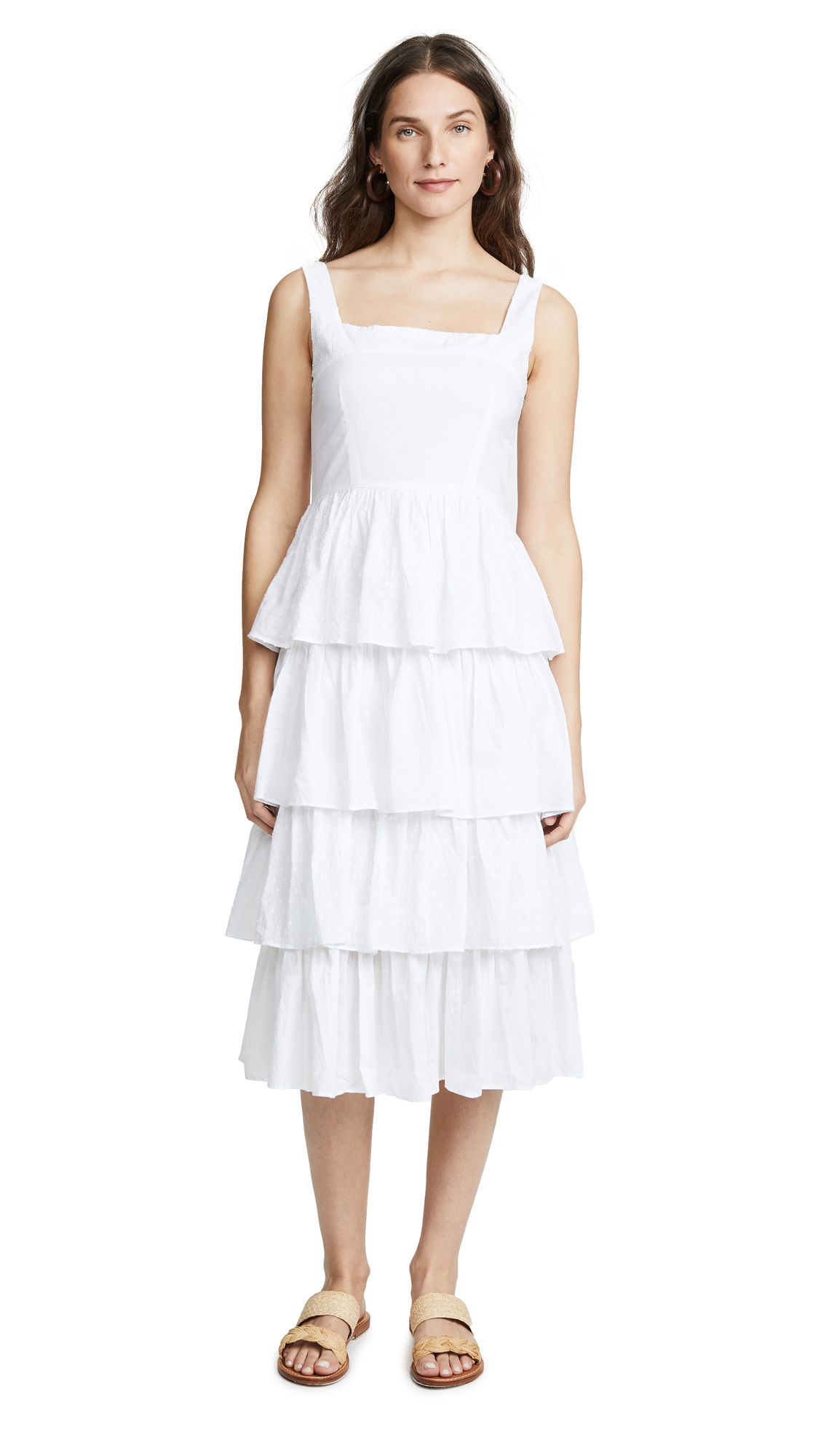 KOS RESORT TIERED DRESS