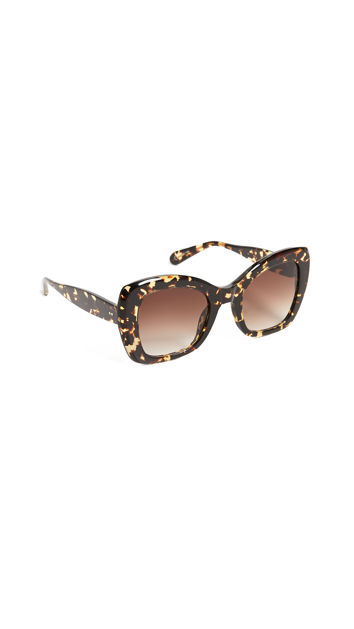 KREWE Felicity Acetate Two-Tone Butterfly Sunglasses in Tortoise/Brown