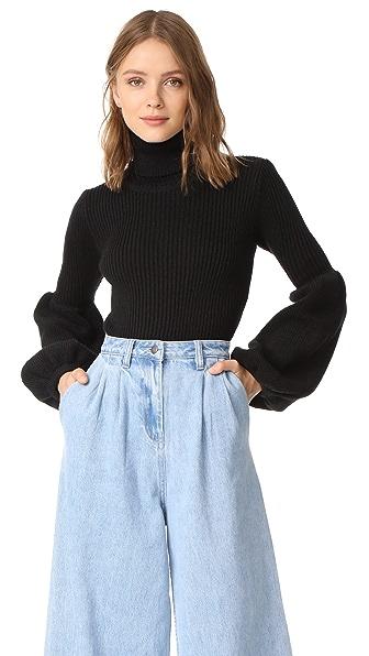 Ksenia Schnaider Wool Mix Turtleneck Sweater - Black