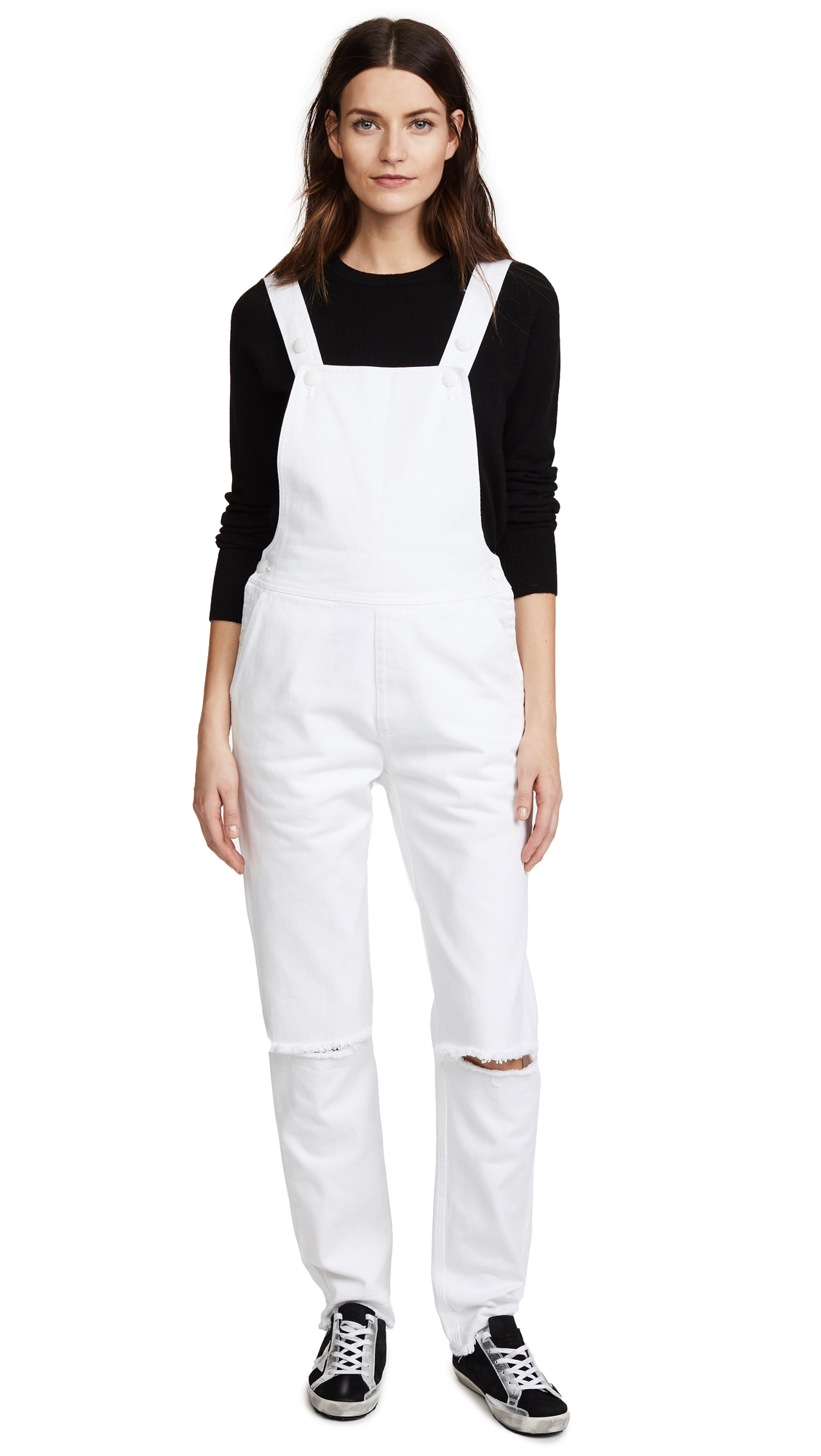 Ksenia Schnaider White Denim Slim Dungarees In White