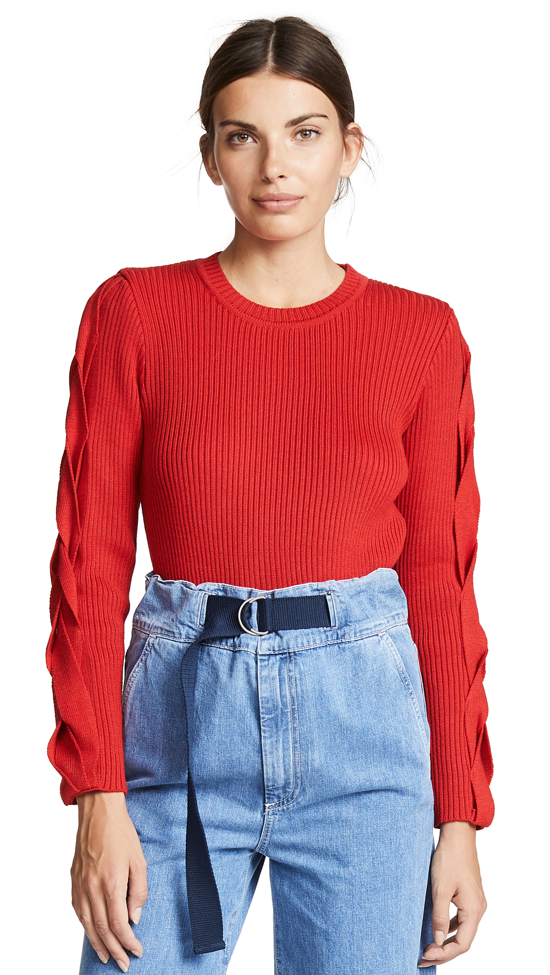 KSENIA SCHNAIDER WOOL MIXED SWEATER