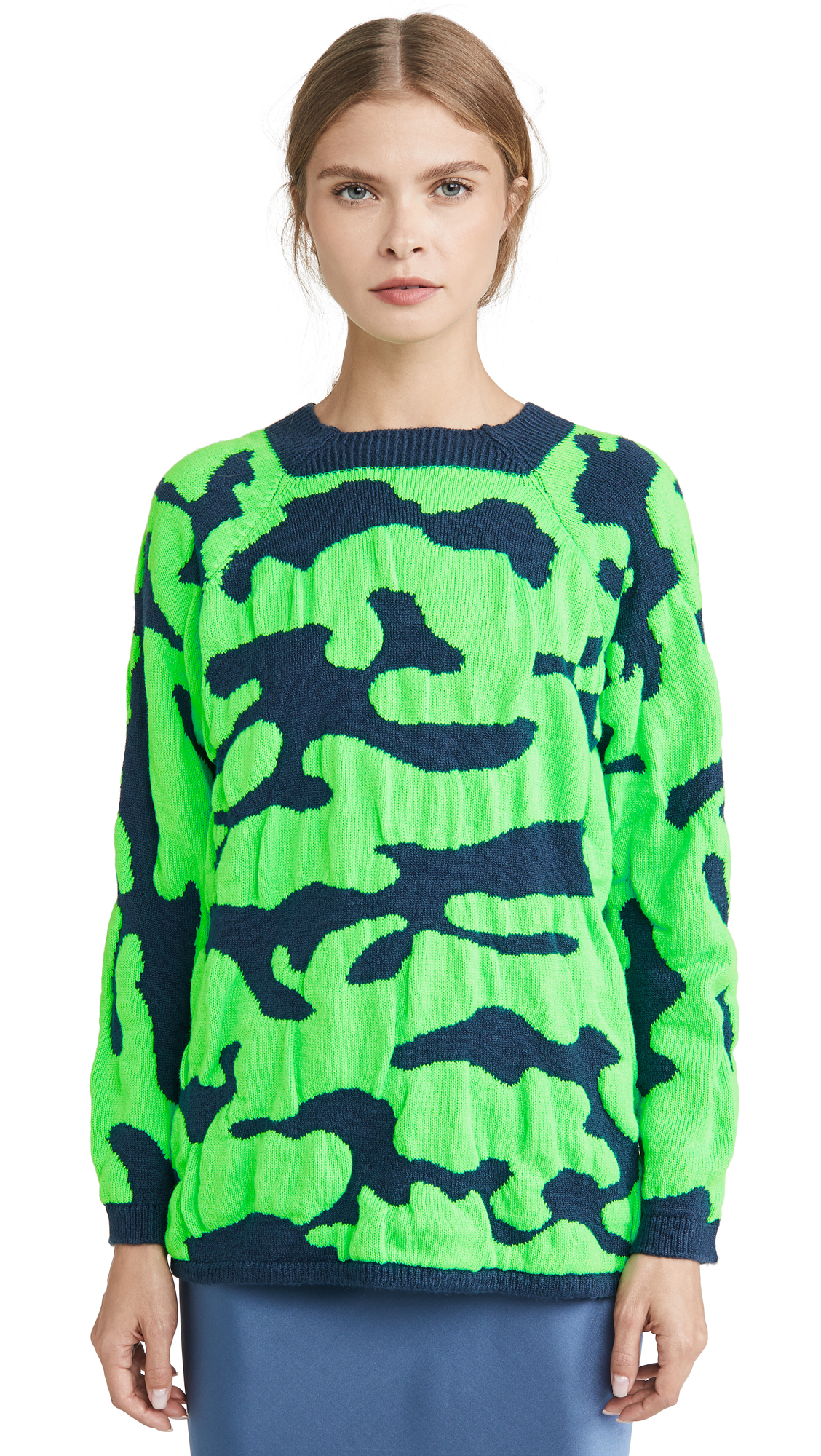Buy Ksenia Schnaider online - photo of Ksenia Schnaider Oversized Camo Sweater