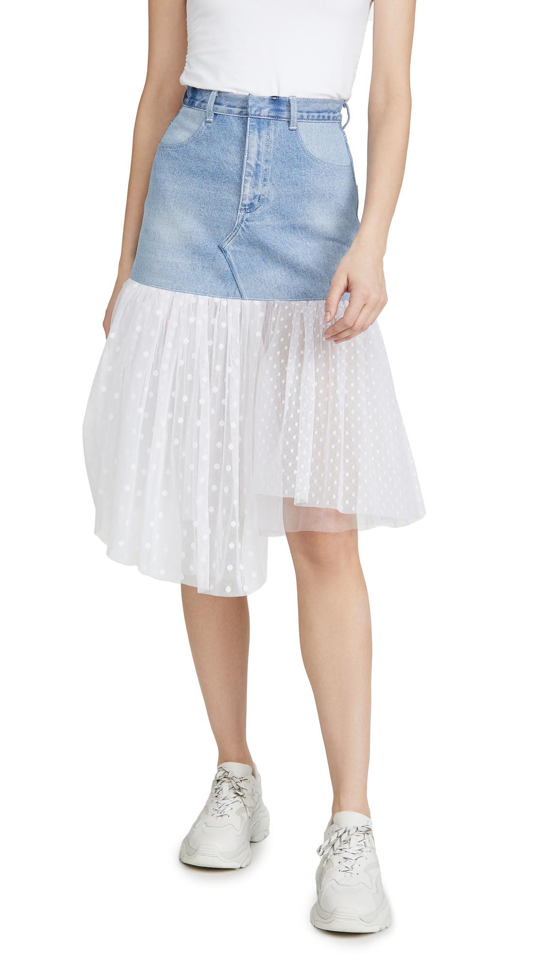 Buy Ksenia Schnaider online - photo of Ksenia Schnaider Midi Skirt with Tulle Trim