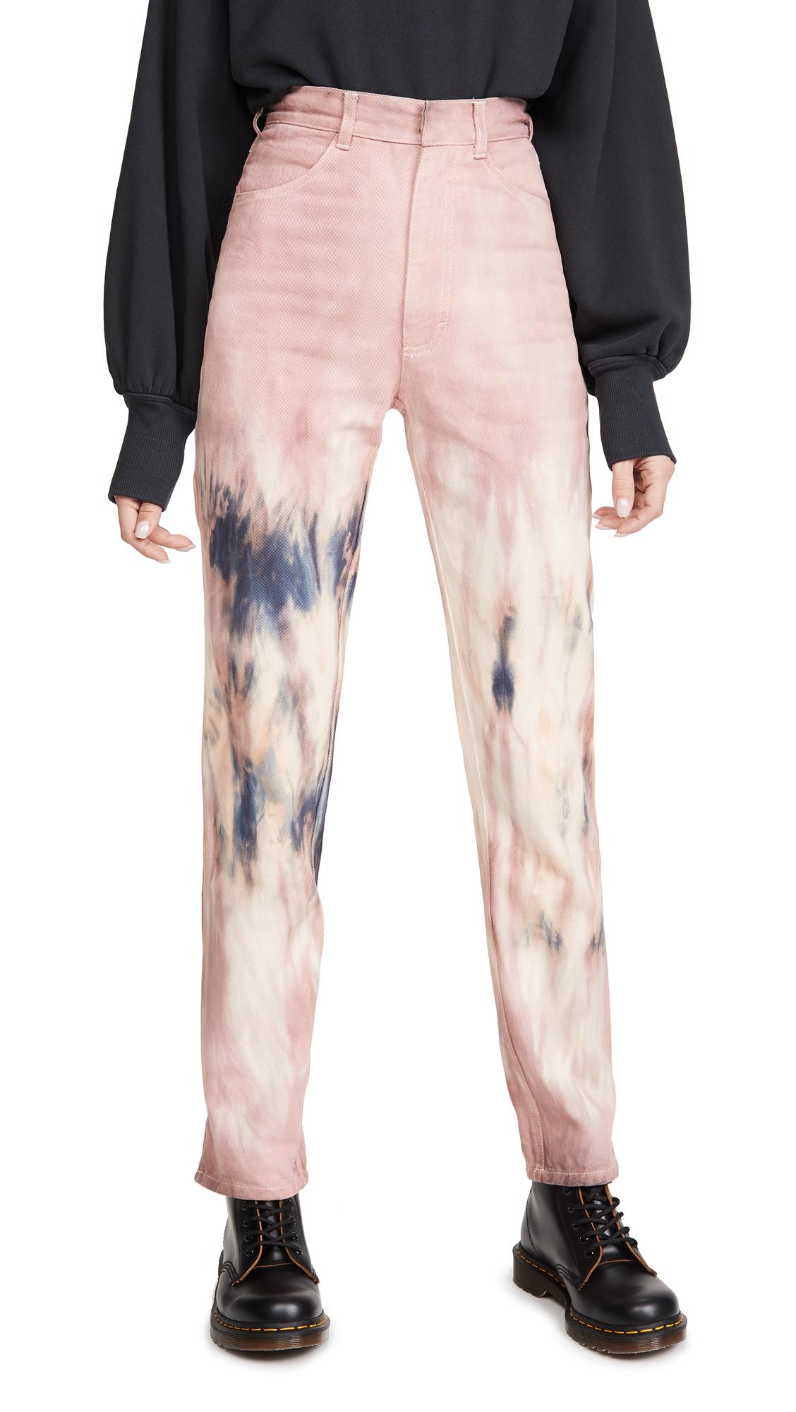 Buy Ksenia Schnaider online - photo of Ksenia Schnaider Mom Purple Tie Dye Jeans