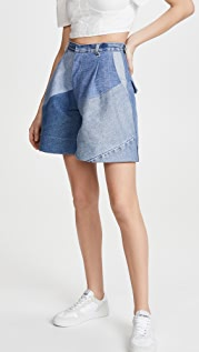 Ksenia Schnaider Reworked Denim Shorts