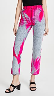 Ksenia Schnaider Mom Jeans with Pink Flock