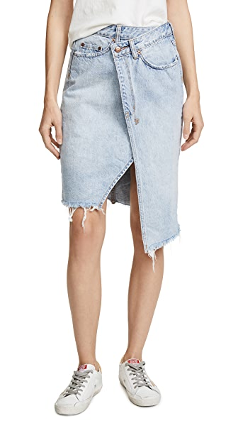 Ksubi Rap Midi Skirt In Chillz